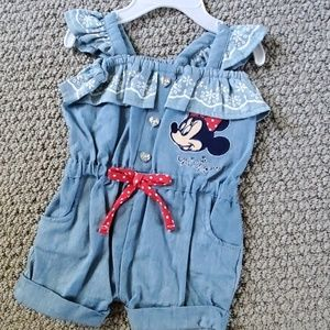 Baby girl Romper. Minnie Mouse. 0-3 months